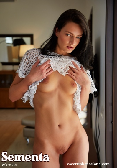 Sementa, Russian escort who offers french kissing in Barcelona