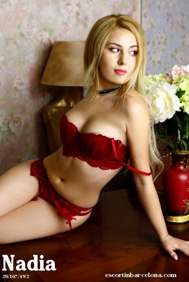 Nadia, Russian escort who offers company in Barcelona