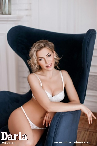 Daria, Russian escort who offers oral job in Barcelona