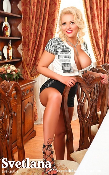 Svetlana, Russian escort who offers girlfriend experience in Barcelona